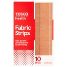 Tesco Fabric Dressing Strips 10 cm x 6 cm 10 pcs