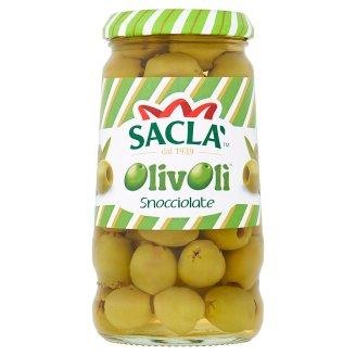 Saclà Zelené olivy bez pecky ve slaném nálevu 290g