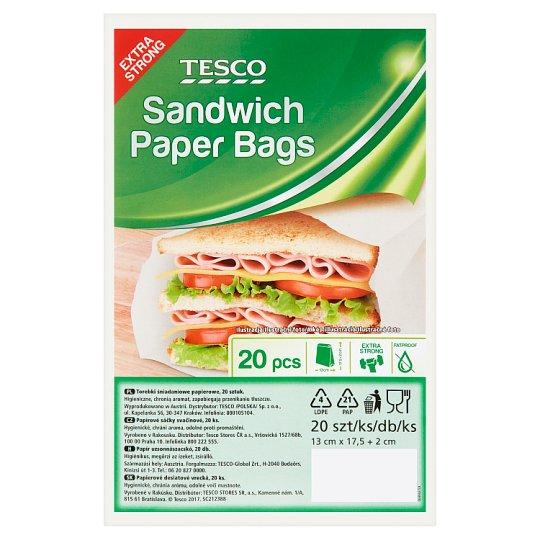 Tesco Sandwich Paper Bags 20 pcs