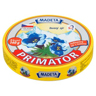 Madeta Primator tavený sýr 8 ks 140g