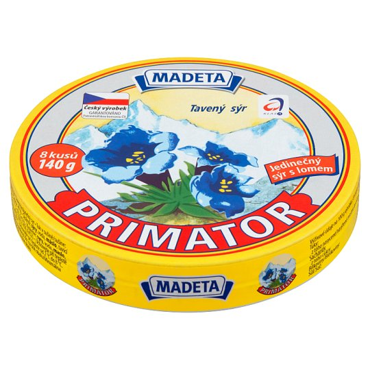 Madeta Primator Processed Cheese 8 pcs 140g