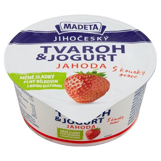 Madeta Jihočeský Cottage Cheese with Yogurt Strawberry 135g