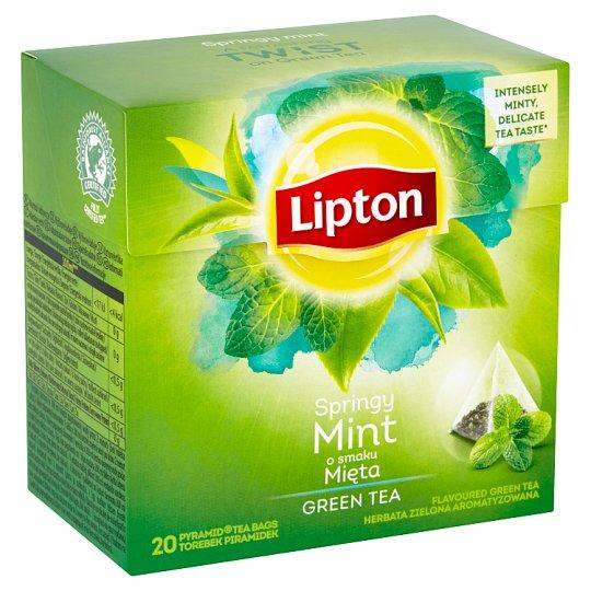 Lipton Green Flavoured Tea Intense Mint 20 Tea Bags