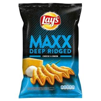 Lay's Maxx Smažené bramborové lupínky s příchutí sýra a cibulky 140g