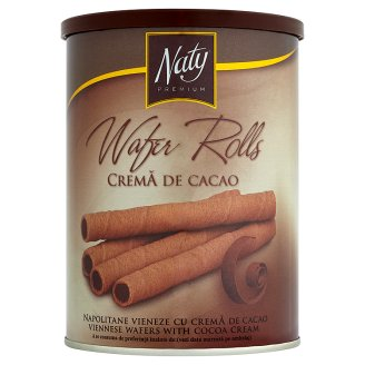 Naty Premium Wafer Rolls Viennese Wafers with Cocoa Cream 400g