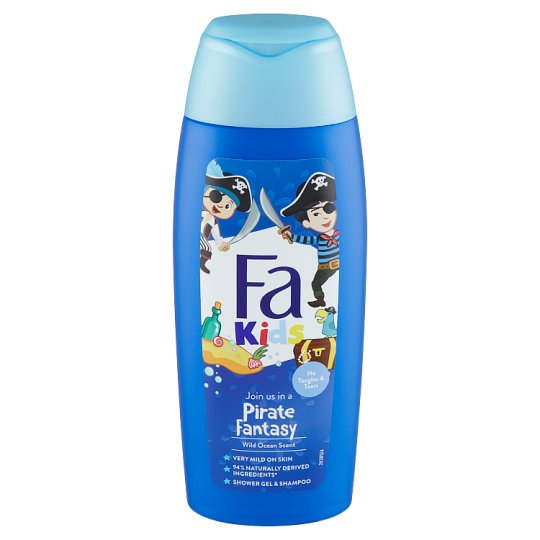 Fa Kids Shower Gel & Shampoo Wild Ocean 250ml