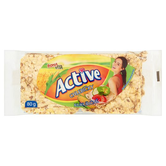 Bona Vita Active Whole Grain Corn Breads 80g