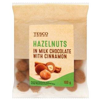 Tesco Hazelnuts in Milk Chocolate with Cinnamon 100g