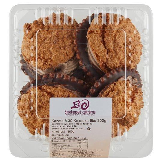 Smetanová cukrárna Cassette No. 30 Coconut Cookie 5 pcs 300g
