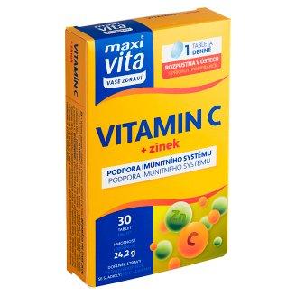 MaxiVita Vaše Zdraví Vitamin C + Zinc 30 Tablets 22.8g
