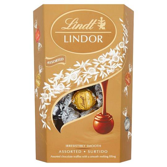 Lindt Lindor Směs čokoládových bonbónů s jemnou krémovou náplní 337g