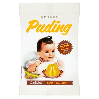 Amylon RETRO Pudding in Powder with Banana and Caramel Flavour 40g