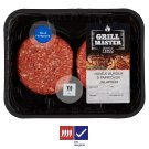 Tesco Grill Beef Burger with Jalapeno Peppers 0.440kg