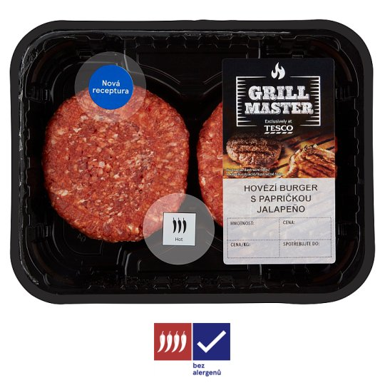 Tesco Beef Burger with Jalapeño Pepper 0.440kg