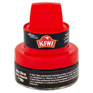 Kiwi Shine and Nourish černý krém na boty 50ml
