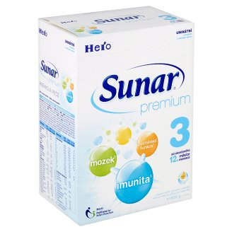 Sunar Premium 3 sušená mléčná výživa pro malé děti 2 x 300g