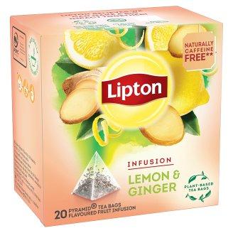 Lipton Citron & Zázvor aromatizovaný čaj se zázvorem 20 sáčků 40g