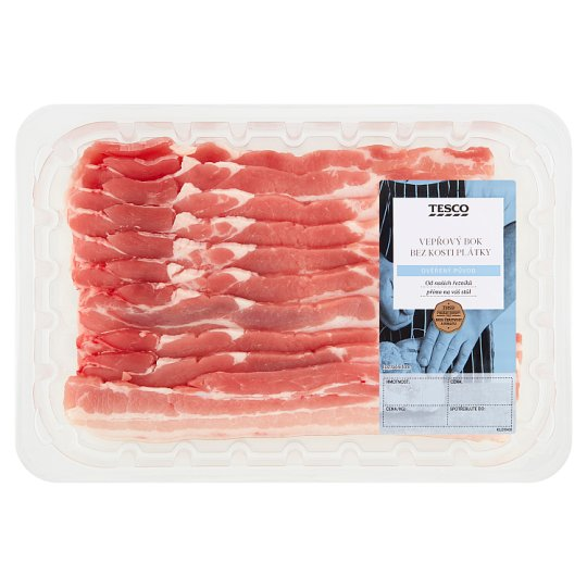 Tesco BBQ Pork Bacon Slices on Baking 0.320kg