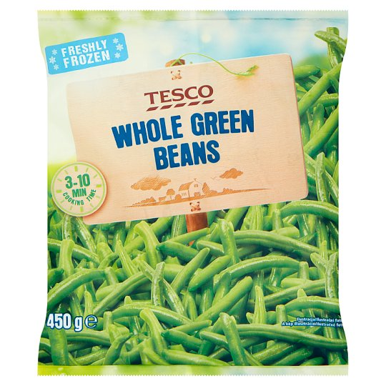 Tesco Whole Green Beans 450g