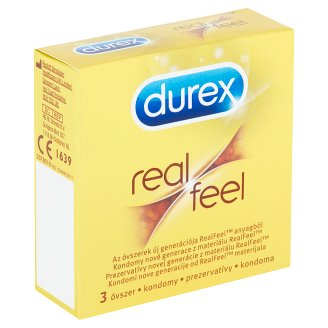 Durex Real Feel kondomy 3 ks
