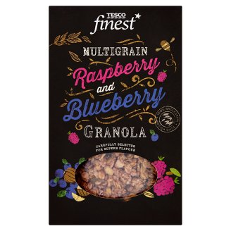 Tesco Finest Baked Muesli with Quinoa Seeds, Freeze Dried Raspberries and Blueberries 500g