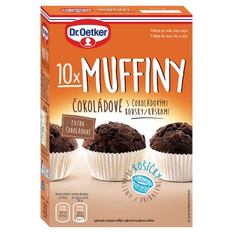 Dr. Oetker Chocolate Muffins with Chocolate Chops 300g
