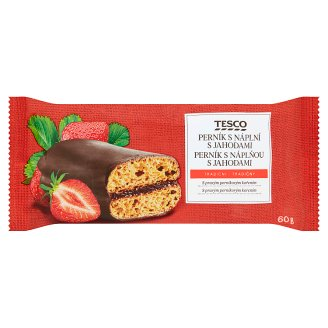Tesco Gingerbread with Strawberry Filling 60g