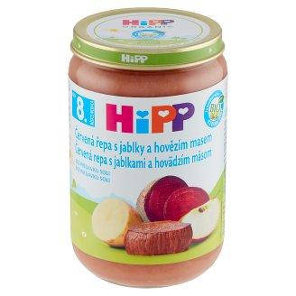 HiPP Bio červená řepa s jablky a hovězím masem 220g