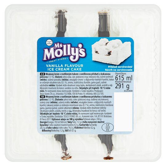 Ms Molly's Vanilla Flavour Ice Cream Cake 615ml