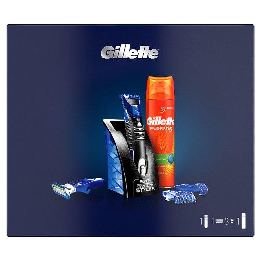 Gillette All Purpose Styler + Fusion5 Sensitive Shaving Gel Gift Set