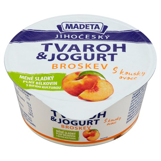 Madeta Jihočeský Cottage Cheese with Yogurt Peach 135g