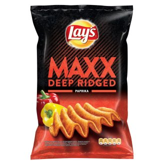 Lay's Maxx Smažené bramborové lupínky s příchutí pikantní papriky 140g