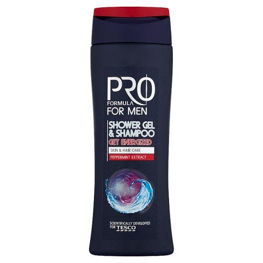 Tesco Pro Formula For Men Sprchový gel a šampón Get Energized 250ml