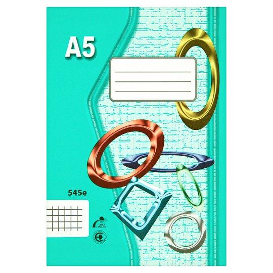 Papírny Brno 545e školní sešit A5 čtverečkovaný 40 listů