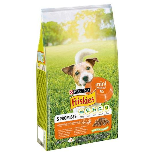 Friskies pro malé dospělé psy Mini Menu s kuřetem a zeleninou 1,5kg