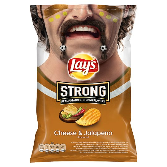 Lay's Strong Cheese & Jalapeno 77g - Tesco Groceries