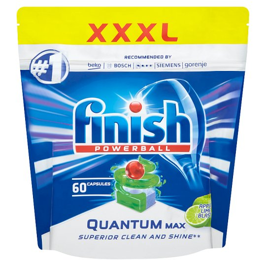 Finish Powerball Quantum Max Apple Lime Blast Dishwasher Tablets 60 pcs 930g
