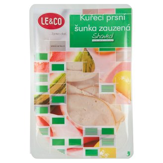 Le & Co Shaved Chicken Breast Smoked Ham 100g