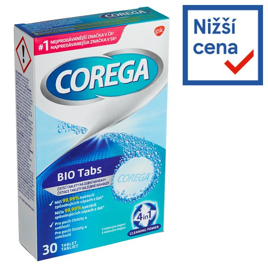 Corega Organic Tabs Cleaning Tablets for Dental Replacement 30 pcs