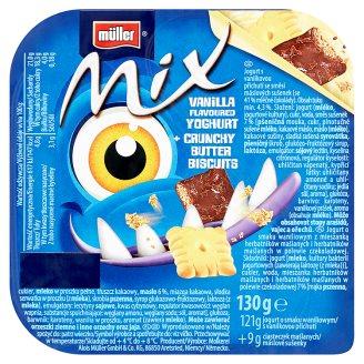 Müller Mix Vanilla Flavoured Yoghurt + Crunchy Butter Biscuits 130g