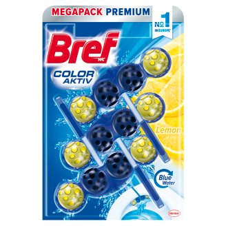 Bref Color Aktiv Lemon tuhý WC blok 3 x 50g