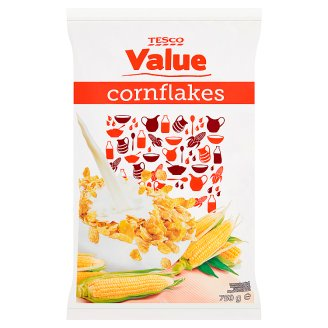Tesco Value Kukuřičné lupínky s vitaminy a železem 750g