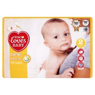 Tesco Loves Baby New Born plenky 2 Mini 33 ks