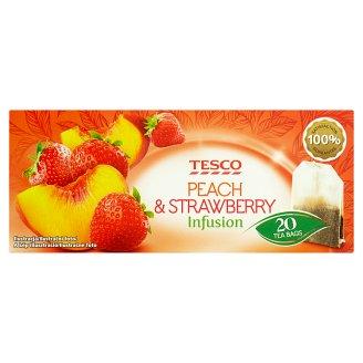 Tesco Ovocný čaj s příchutí broskve a jahody 20 x 2g