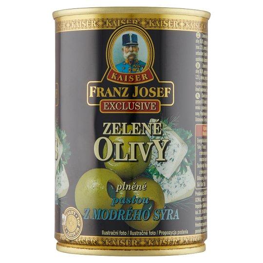 Kaiser Franz Josef Exclusive Zelené olivy plněné pastou z modrého sýra 300g