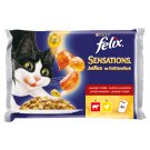Felix Sensations Jellies with Beef in Jelly with Tomato + with Chicken in Jelly with Carrot 4 x 100g