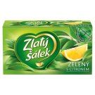 Zlatý Šálek Green Tea with Lemon Flavour Tea Bags 20 x 1.5g