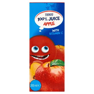 Tesco 100% Apple Juice 200ml