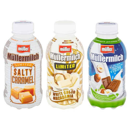 Müller Müllermilch Milk Drink with White Chocolate-Macadamia Nuts Flavour 400g