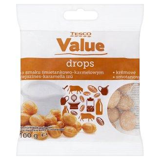 Tesco Value Dropsy krémové 100g